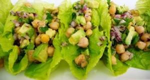 Easy Garbanzo Salad, healthy, vegan recipe