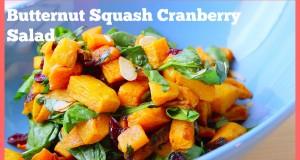 Easy Vegan Lunch: Butternut Squash Cranberry Salad Recipe