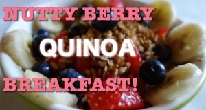 Nutty Berry Vegan Quinoa Breakfast – Gluten Free – Colazione vegan senza glutine con quinoa!