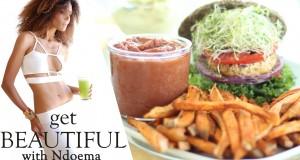 Raw Vegan Veggie Burger Buns with Mayo, Ketchup & Fries   The Global Girl