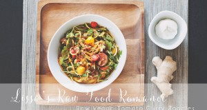 RECIPE: Raw Vegan Fruitarian Tomato Curry Zoodle Salad!
