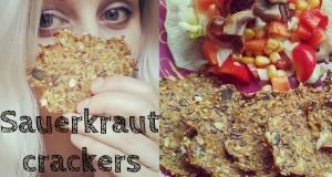 Sauerkraut crackers (raw, vegan)