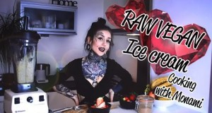 Valentine's day dessert – Raw Vegan Ice cream – Cooking with Monami Frost