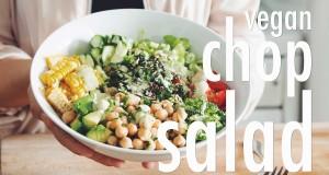 vegan chop salad: bridal bootcamp collaboration
