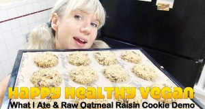 What I Ate In A Day + Raw Vegan Oatmeal Cookie Recipe