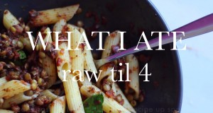 WHAT I ATE WEDNESDAY – HCLF raw til 4 vegan